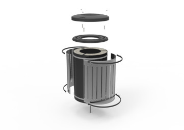 Blast Enhanced Waste Bin