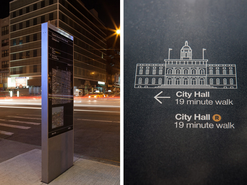 NYC wayfinding night