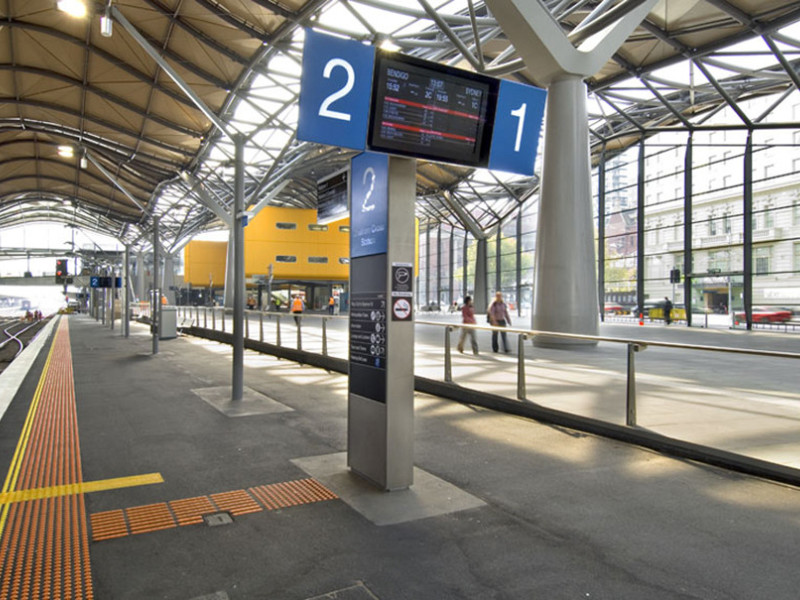 Southern Cross Station totem